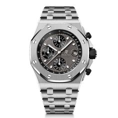 Audemars Piguet - Royal Oak Offshore Chronograph 42 mm, 2021 Editions | Time and Watches | The watch blog James Bond, Luxury Watches, Rolex Watches, Apple Watch, Royal Oak Offshore Chronograph, Watch Blog, Audemars Piguet Royal Oak, Metal Bracelets, Sport Watches