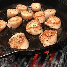 Scallops in cast iron over BBQ will change your life. . . Shout out to @fogocharcoal. . . . #Barbecue #BBQ #BBQPorn #Scallop #Scallops #Seafood #GrilledSeafood #Seafood #Carne #Carnivore #Food #Foodgasm #Foodie #Foodies #FoodPhotography #FoodPics #FoodPorn #Foodstagram #ForkYeah #GlutenFree #Grill #Instafood #Meat #liveauthentic #eeeeeats #feedfeed #onthetable #f52grams #huffposttaste #buzzfeast