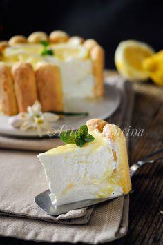 Charlotte al limone ricetta dolce senza cottura facile vickyart arte in cucina