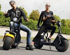 Rooder Electric Fashion Fat Tire Scooter Razor Scooter 60V 1000W with Removable Lithium Battery (14)