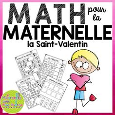 Here are 15 FRENCH cut-and-paste no-prep math sheets, perfect for your kindergarten students! These sheets are great to leave for a substitute teacher, or to use as a conclusion to a related lesson. You will find worksheets that help students practice counting (1-10), ordering numbers (forwards and backwards), patterning, ordering quantities, 10 frames, and ordering by size (largest to smallest/smallest to largest) in this Valentine's Day-themed pack.