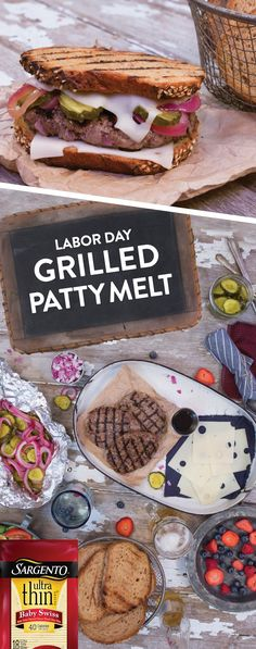 Get your spatulas ready to grill this delectable Patty Melt Burger over Labor Day Weekend! We've taken spiced beef patties and layered savory Sargento® Swiss natural cheese slices, mustard, grilled pickles and onions. Then melted everything together on the grill between hearty pieces of rye bread making this burger perfect for your weekend grill out.