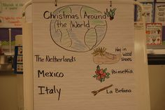Christmas Traditions Around the World in kindergarten. This post will show you how my kindergarten class investigated different Christmas customs from around the world. Kids loved the different crafts and traditions they learned. Christmas Traditions, Christmas Themes, Christmas Crafts, Christmas Stuff, Around The World Theme, Holidays Around The World, Kindergarten Social Studies, Kindergarten Class, Kindergarten Christmas