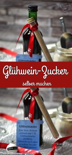 Geschenke aus der Küche – Glühweinzucker The mulled wine sugar is a great gift from the kitchen. It mixes quickly and doesn't just sweeten mulled wine. It also tastes great in hot tea, juice, or on cereals. Mulled Wine, Sparkling Wine, Muesli, Wine Drinks, Cocktail Recipes, Wines, Great Gifts, Homemade, Kitchen