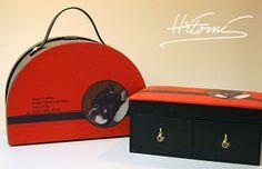 french bulldog paper trunk & accessory case
