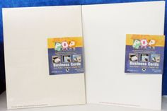 POP PAPERS  BUSINESS CARDS 65 Lb Stock 1 New Pkg (35 pages)+ 16 pages 10/page A6 #PopPapersAmpad