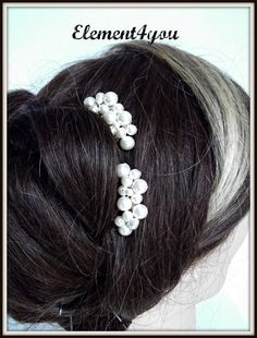 Bridal Pearl comb bridal headpieces Bridesmaid hair by Element4you, $24.00
