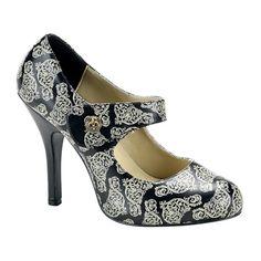 Demonia CORDELIA-31 Steampunk Mary Jane Pumps - Demonia Shoes