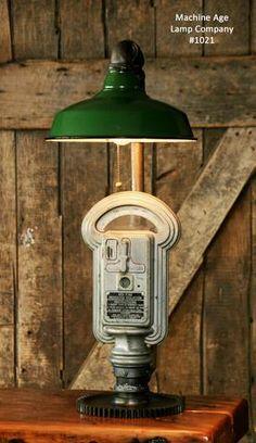 Steampunk Industrial Lamp, Duncan Miller Parking Meter #1021