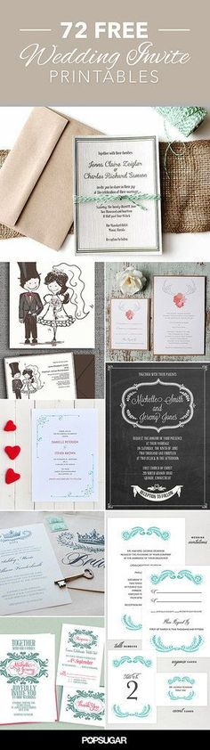 printable wedding invitations best photos - wedding invitations  - cuteweddingideas.com