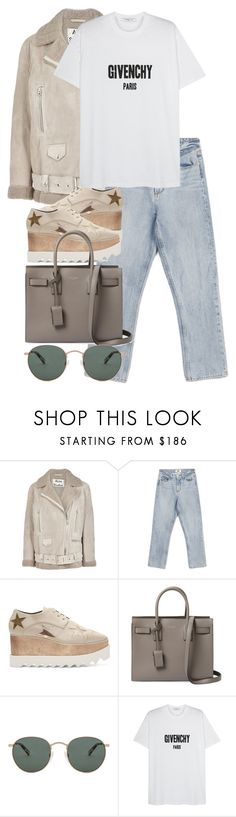 """Untitled #3142"" by elenaday ❤ liked on Polyvore featuring Acne Studios, Paige Denim, STELLA McCARTNEY, Yves Saint Laurent, raen and Givenchy"