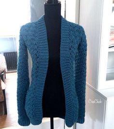 Crochet Shell Pattern, Crochet Patterns, Mantel Vintage, Crochet Needles, Crochet Cardigan, Sewing A Button, Crochet Fashion, Crochet Clothes, Dress Patterns