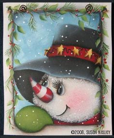 Silly Snowman ePattern - Click Image to Close Christmas Canvas, Christmas Wood, Christmas Snowman, Christmas Projects, Vintage Christmas, Christmas Ornaments, Primitive Christmas, Country Christmas, Christmas Trees