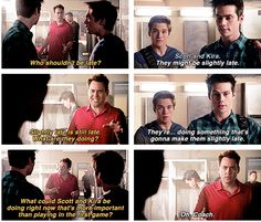 """Teen Wolf Season 04 Episode 11 """"A Promise to the Dead"""" Stiles, Liam and Coach"""