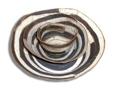 brenda holzke - gallery - banded: Granite Nesting Bowls in high fired stoneware Ceramic Tableware, Ceramic Clay, Ceramic Bowls, Ceramic Pottery, Pottery Art, Stoneware, Cup Art, Pottery Classes, Plate Design