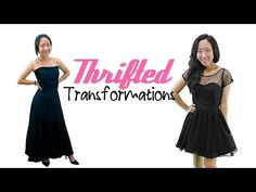 Thrifted Transformations | Ep. 7—thrifted gown into a cute dress
