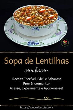 Guisado, Bacon, Link, Incredible Recipes, Tasty Food Recipes, Lentil Soup, Simple Side Dishes, Main Course Dishes, Yummy Recipes