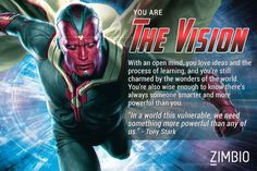 I'm The Vision! Which 'Avengers: Age of Ultron' character are you?null - Quiz