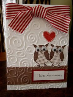 Happy Anniversary by stamping chick - Cards and Paper Crafts at Splitcoaststampers