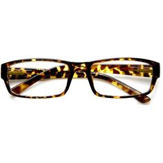 d3fd06b0e87 Modern RX Optical Rectangle Clear Lens Glasses 9342 ( 19) ❤ liked on  Polyvore featuring