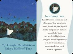 My thought manifestations enjoy a buffer of time :)