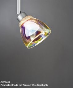 Tension Wire spotlights...in pretty prismatic finish.