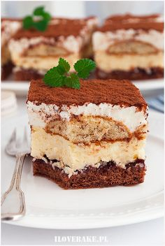Ciasto kapitańskie - I Love Bake Vegan Ramen, Calzone, Ramen Noodles, Dessert Recipes, Desserts, No Bake Cake, Tiramisu, Sweets, Cookies