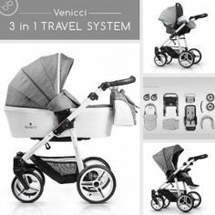 Venicci 3 in 1 Travel System Special Edition Pure - denim grey