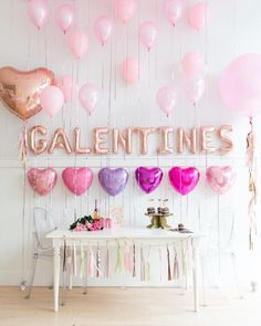 Galentines is right around the corner, and we love celebrations with plenty of pink and rose gold for all of favorite ladies! Shop the full… My Funny Valentine, Valentines Day Food, Valentines Day Decorations, Valentine Party, Valentinstag Party, Holiday Parties, Holiday Fun, Valentine's Day Quotes, Galentines Day Ideas