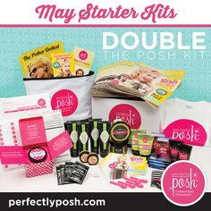 The May starter kits contain a lot of great items! By joining Perfectly Posh you get to sell amazing products, and you'll get tons of support from the wonderful women on my team! The starter kit is only $99...what's stopping you from having your own business? Message me for more details or click https://www.perfectlyposh.com/NicoleAlexa/join to join!