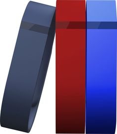 Fitbit - Flex Classic Bands for FitBit Flex Wireless Activity and Sleep Trackers (3-Count) - Navy/Red/Blue (Blue/Red/Blue), FB401BNRBL