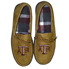 Texas A&M Men's moccasin by Campus Footnotes.