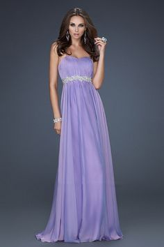 La Femme 17739 Strapless Long Prom Dress Purple 2013