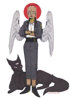 """caewaiisar:  """"We have nothing to fear except ourselves."""" angel and feral doge(▰˘◡˘▰)  LUV COOL PUNK ROCK ANGELS. I WANT THIS ENTIRE OUTFIT...."""