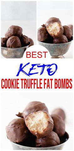 Keto Chocolate Fat Bombs - BEST Chocolate Cookie Truffle Fat Bombs - Easy NO Sugar Low Carb Recipe - Savory Ketogenic Diet Snacks - Wanderlust Healthy Sweet Snacks, Keto Snacks, Sweet Treats, Keto Desserts, Keto Chocolate Fat Bomb, Chocolate Cookies, Sweet Fat Bombs, Easy Homemade Cookies, Fat Bombs Low Carb