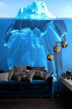 Interior: Awesome Wall Murals Innenraumfarbe Farben Blue Sofa With Black T . 3d Wallpaper Mural, Designer Wallpaper, Wallpaper Designs, Photo Wallpaper, Dark Wallpaper, Wallpaper Ideas, Minimalist Wallpaper, 3d Wall Art, Wall Murals