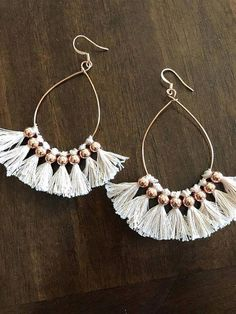 Elegant Statement Drop Earrings- bridesmaid gift/ gifts for her/ special occasion/ gifts for her/ bridal earrings/ fancy bridesmaid earrings - Fine Jewelry Ideas Diy Tassel Earrings, Gold Bar Earrings, Tassel Jewelry, Bridal Earrings, Crystal Earrings, Wire Jewelry, Bridal Jewelry, Jewelry Crafts, Jewelery