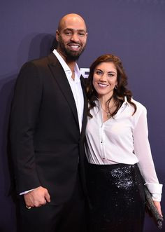 Hope Solo of the United States and Jerramy Stevens attend the FIFA Ballon d'Or Gala 2015 at the Kongresshaus on January 11, 2016 in Zurich, Switzerland.
