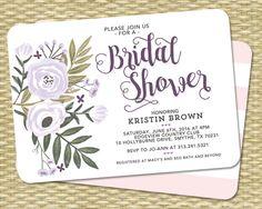 Bridal Shower Invitation Bridal Shower by SunshinePrintables