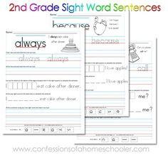 Free+printable+2nd+Grade+Sight+Word+Sentences