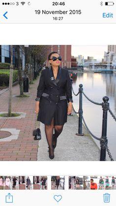 Tuxedo dress  Blog: www.originalmangu.com