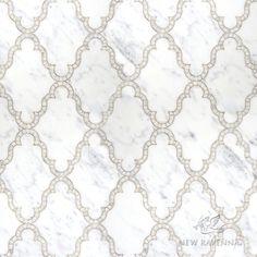 Dervish stone mosaic in Calacatta Tia marble  Silk Road Collection | New Ravenna