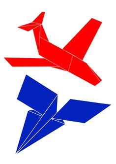 #plane #aeroplane #poster #onegirlshow #design #art #origami #graphic