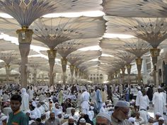 Madina Mosque Umbrellas by Frei Otto, have been in operation fdir over 20 years with very little maintenance.