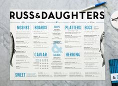 Russ and Daughters restaurant branding