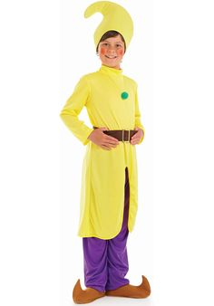 Kids Yellow Dwarf Costume - Children Fantasy Costumes at Escapade