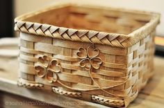 I love basket weaving. I miss this. This is one of my favorite styles of baskets I make.