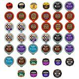 Bold and Dark Coffee Recyclable Single Serve Cups For Keurig K Cup Pod Brewers Variety Pack Sampler, 40 Count