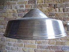 Large Vintage Industrial Design Metal Pendant Light Shade / Art Deco Retro Lamp   eBay