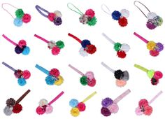 Multi-Color Lovely Baby Girls Polyester Lace Flower Hairband Elastic Headband